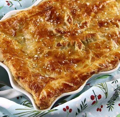 Turkey Pot Pie With Puff Pastry  Savvy Southern Style Wow Us Wednesdays 250