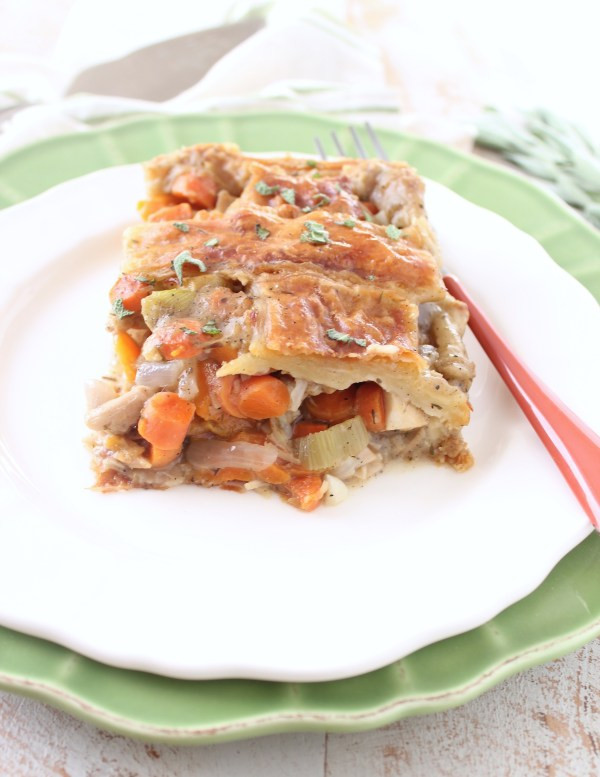 Turkey Pot Pie With Puff Pastry  Turkey Pot Pie with Puff Pastry Crust WhitneyBond