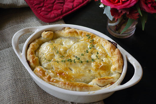 Turkey Pot Pie With Puff Pastry  Easy Leftover Turkey or Roast Chicken Pot Pie