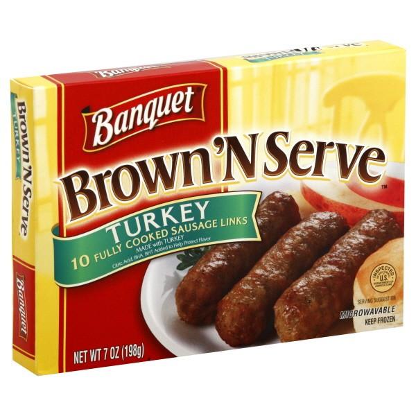 Turkey Sausage Calories  Banquet Brown N Serve Sausage Turkey Links 10 ct Frozen