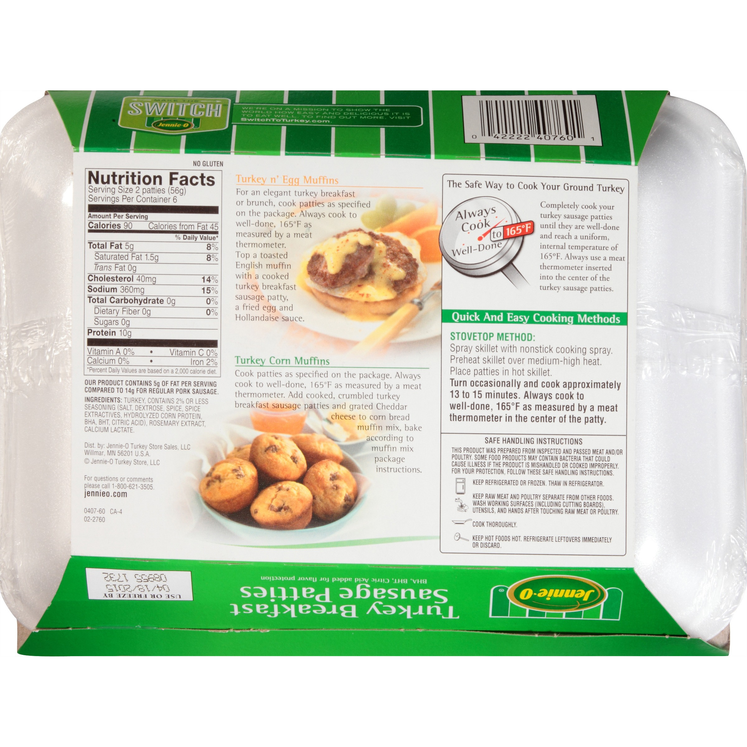 Turkey Sausage Calories  jennie o turkey sausage nutrition facts