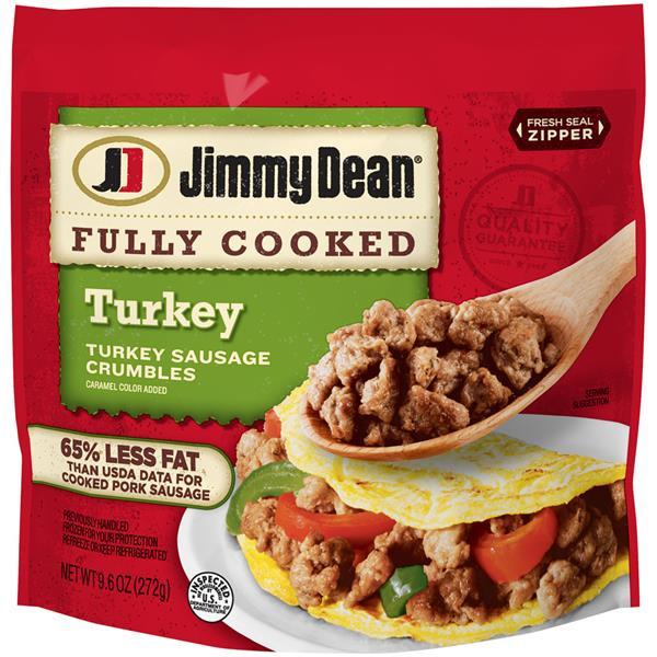 Turkey Sausage Calories  Jimmy Dean Turkey Sausage Crumbles
