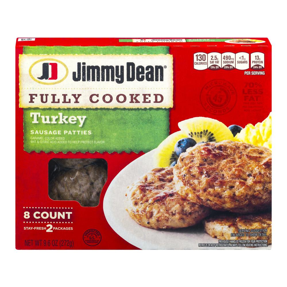 Turkey Sausage Calories  Jimmy Dean Maple Turkey Sausage Patties Nutrition Facts