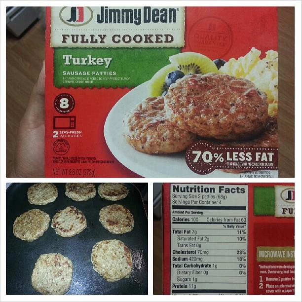 Turkey Sausage Calories  Shannon s Lightening the Load Jimmy Dean Turkey Sausage