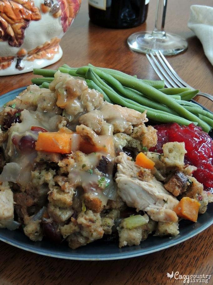 Turkey Stuffing Casserole  e Pot Turkey & Stuffing Casserole