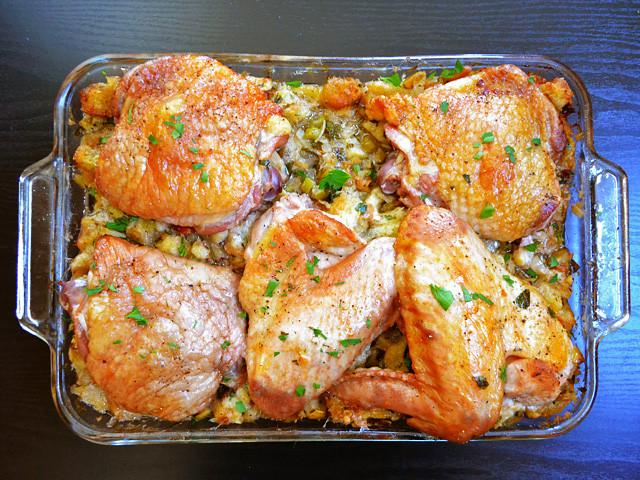 Turkey Stuffing Casserole  turkey and stuffing casserole Bud Bytes