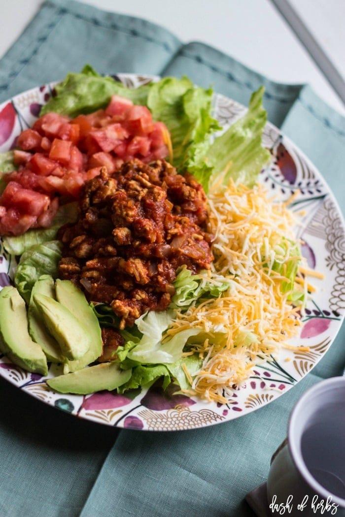 Turkey Taco Salad  Turkey Taco Salad Dash of Herbs