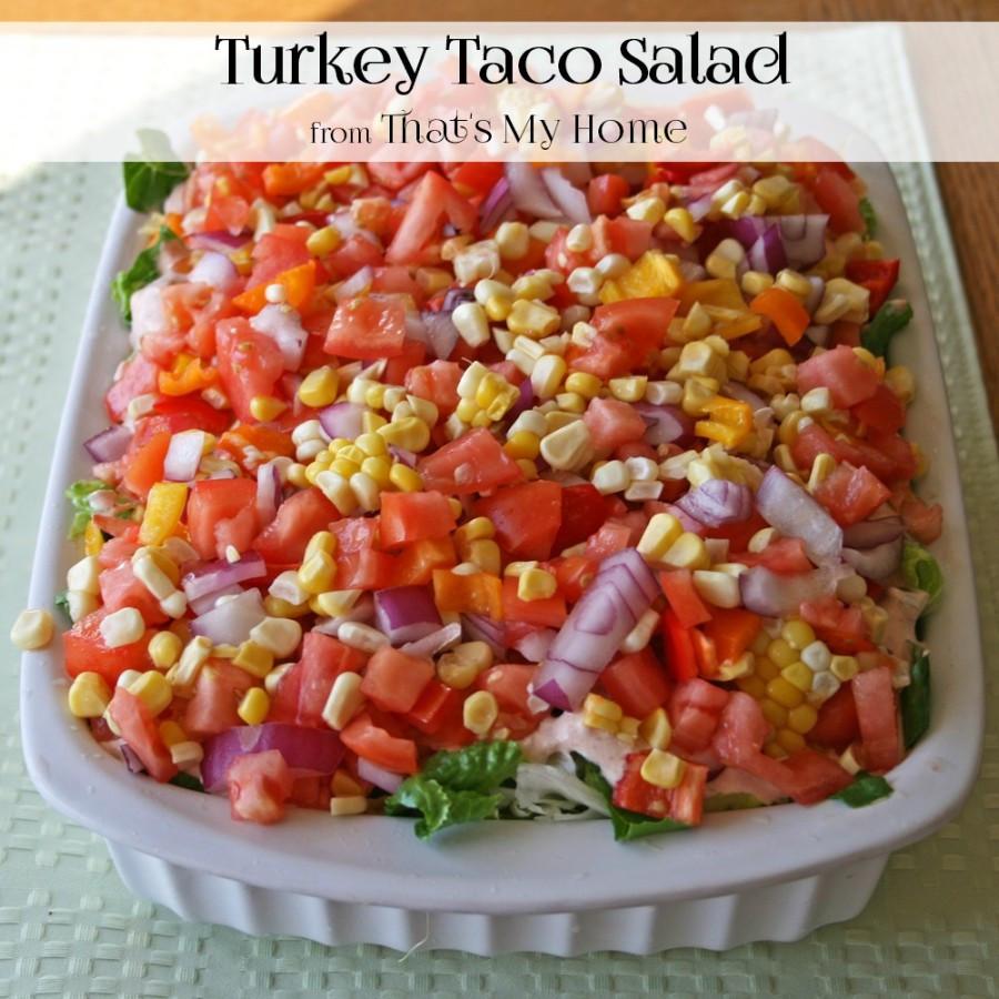 Turkey Taco Salad  Turkey Taco Salad Recipes Food and Cooking