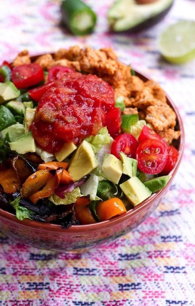 Turkey Taco Salad  Clean Eating Turkey Taco Salad