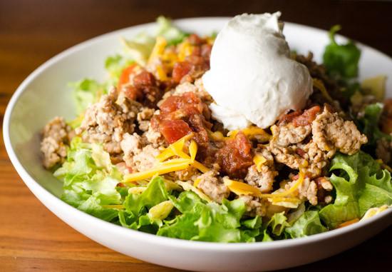Turkey Taco Salad  Taco Salad Recipe — Daily Unadventures in Cooking