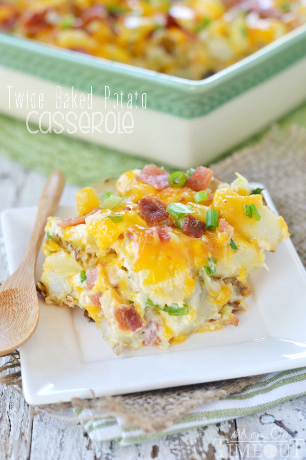 Twice Baked Potato Recipe  easy twice baked potato casserole