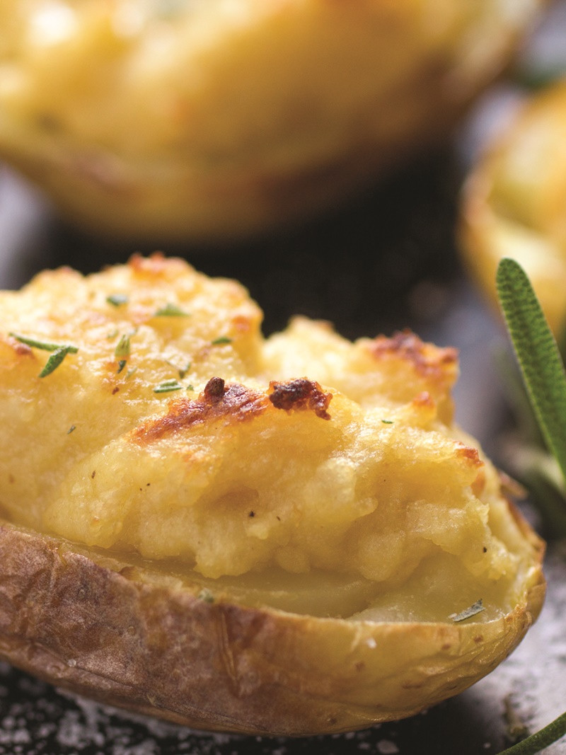 Twice Baked Potato Recipe  Twice Baked Hummus Potatoes with Rosemary Recipe