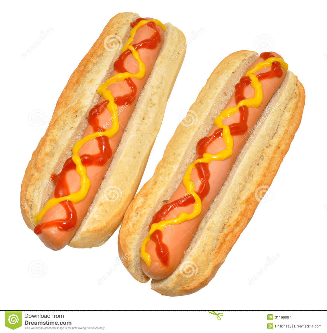 Two Hot Dogs  Two Hot Dogs Royalty Free Stock graphy Image
