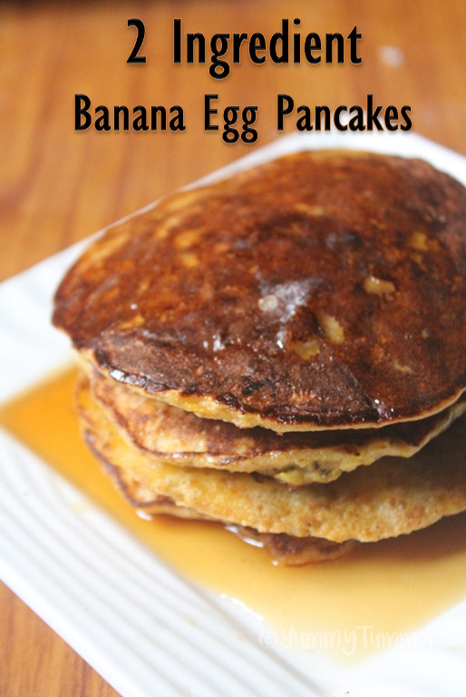 Two Ingredient Pancakes  2 Ingre nt Banana Pancakes Recipe Banana Egg Pancakes