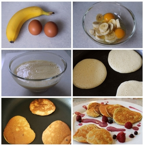 Two Ingredient Pancakes  2 ingre nt Natural Pancakes Recipe AllDayChic