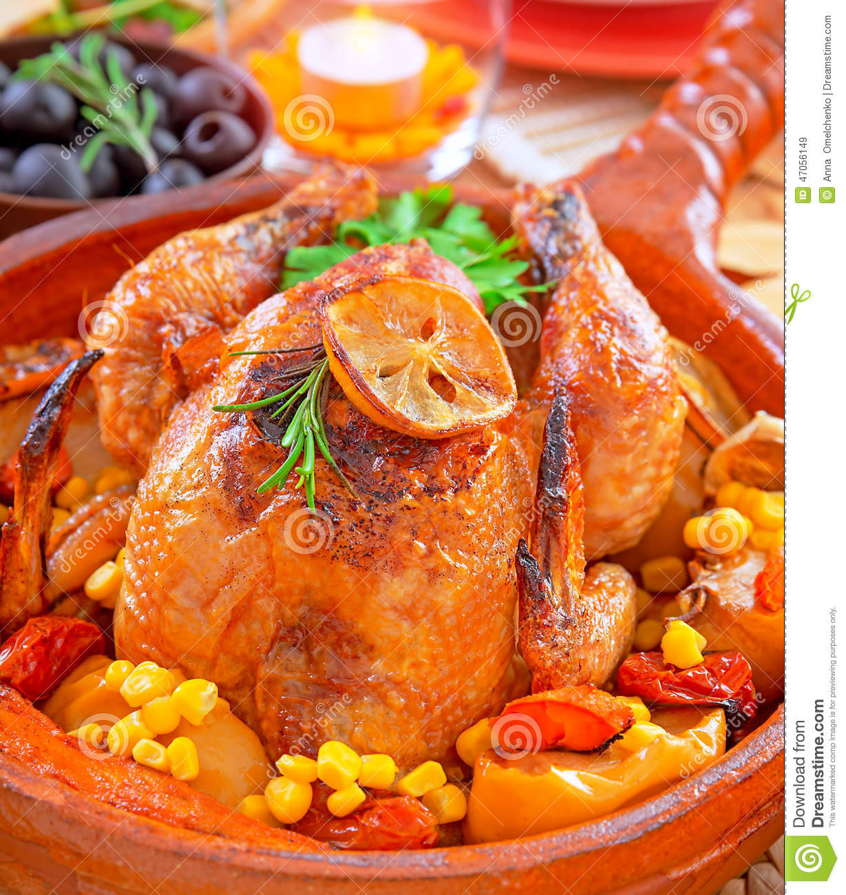 Typical Thanksgiving Dinner  Traditional Thanksgiving Dinner Stock Image