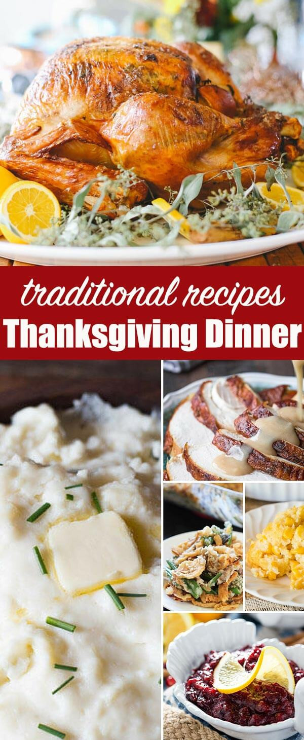 Typical Thanksgiving Dinner  Traditional Thanksgiving Dinner Menu Recipes Turkey