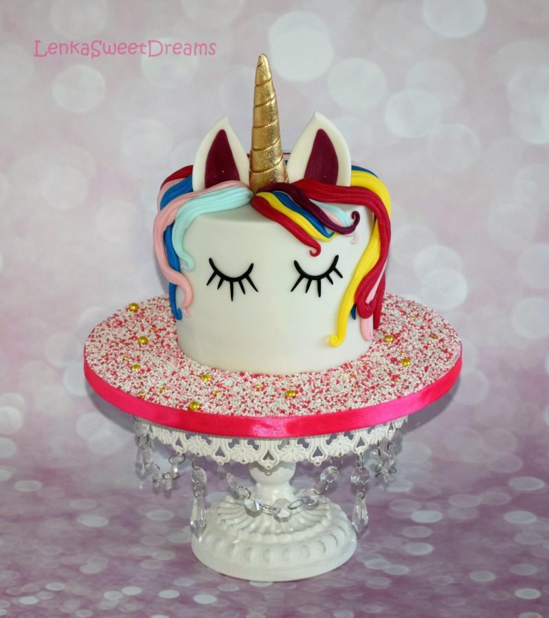 Unicorn Birthday Cake  Magical unicorn birthday cake cake by LenkaSweetDreams
