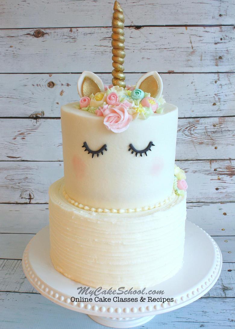 Unicorn Birthday Cake  Unicorn Cake A Cake Decorating Video Tutorial