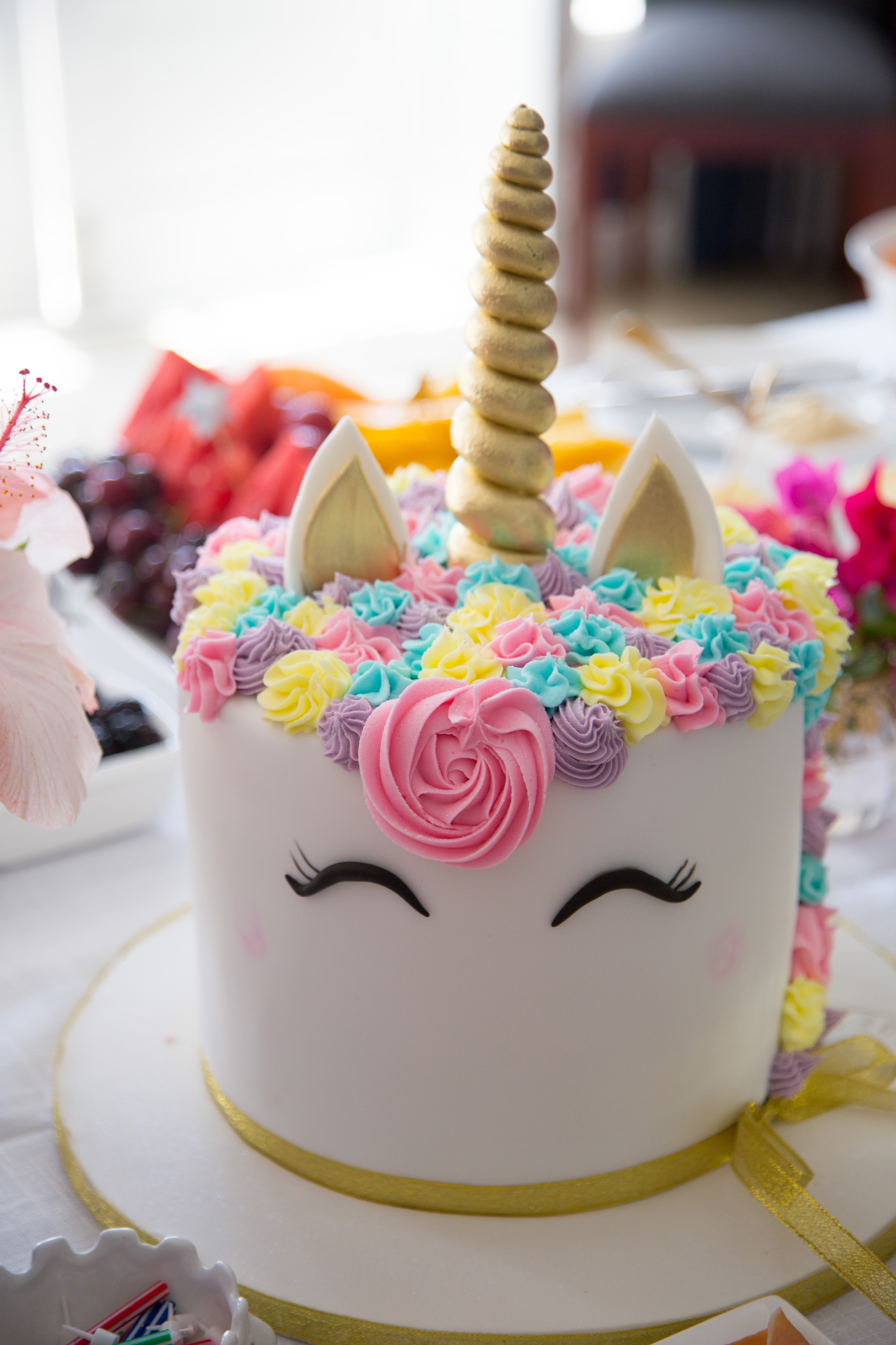 Unicorn Birthday Cake  Real Party Magical Unicorn Party Party Pieces Blog
