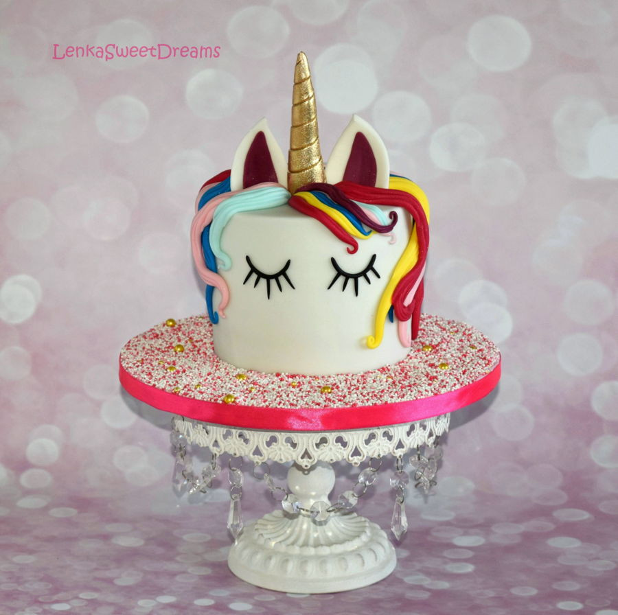 Unicorn Birthday Cake  Magical Unicorn Birthday Cake CakeCentral