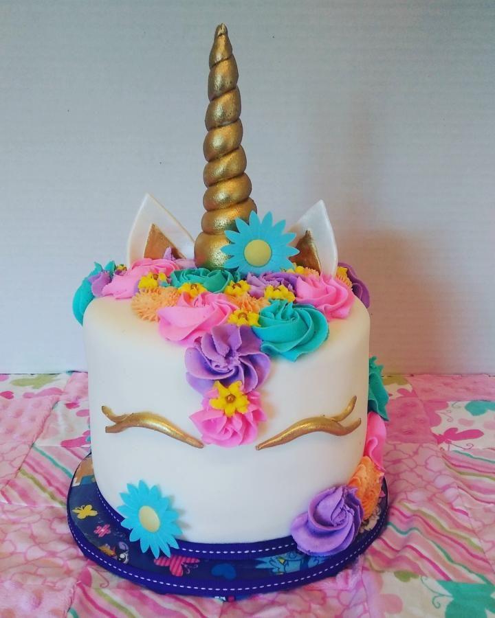 Unicorn Birthday Cake  Whimsical Unicorn Cake Cookies Pinterest