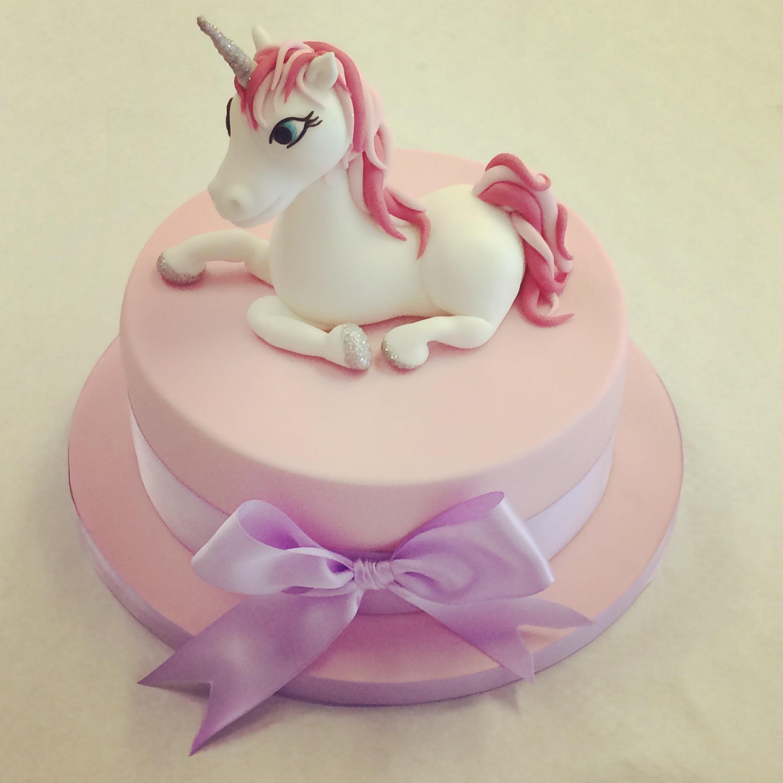 Unicorn Birthday Cake  Round Unicorn Cake Girls Birthday Cakes Celebration