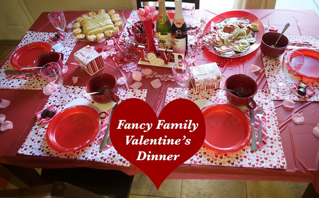 Valentines Dinner For Kids  Emmy Mom e Day at a Time Family Friendly Valentine Dinner