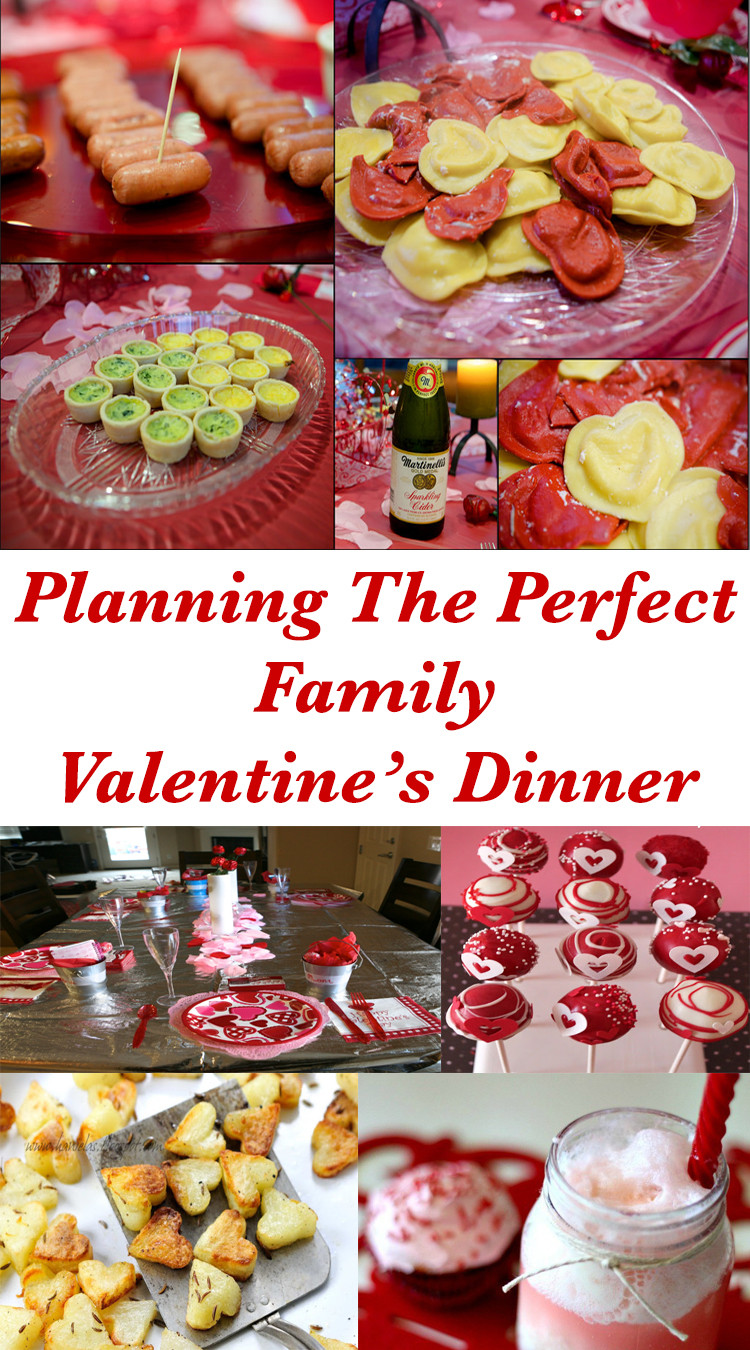 Valentines Dinner For Kids  Emmy Mom e Day at a Time Planning The Perfect Family