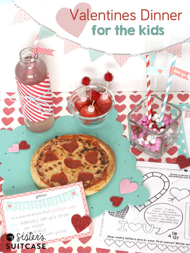 Valentines Dinner For Kids  Valentines Dinner for Kids Ultimate Printable Pack My