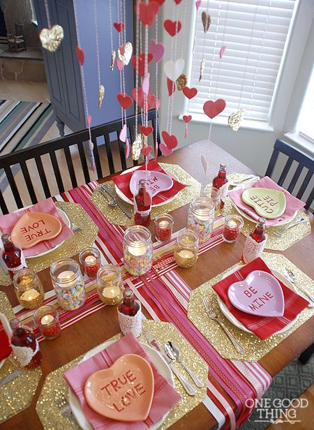Valentines Dinner For Kids  Extraordinary Valentines Table Settings For A Classy