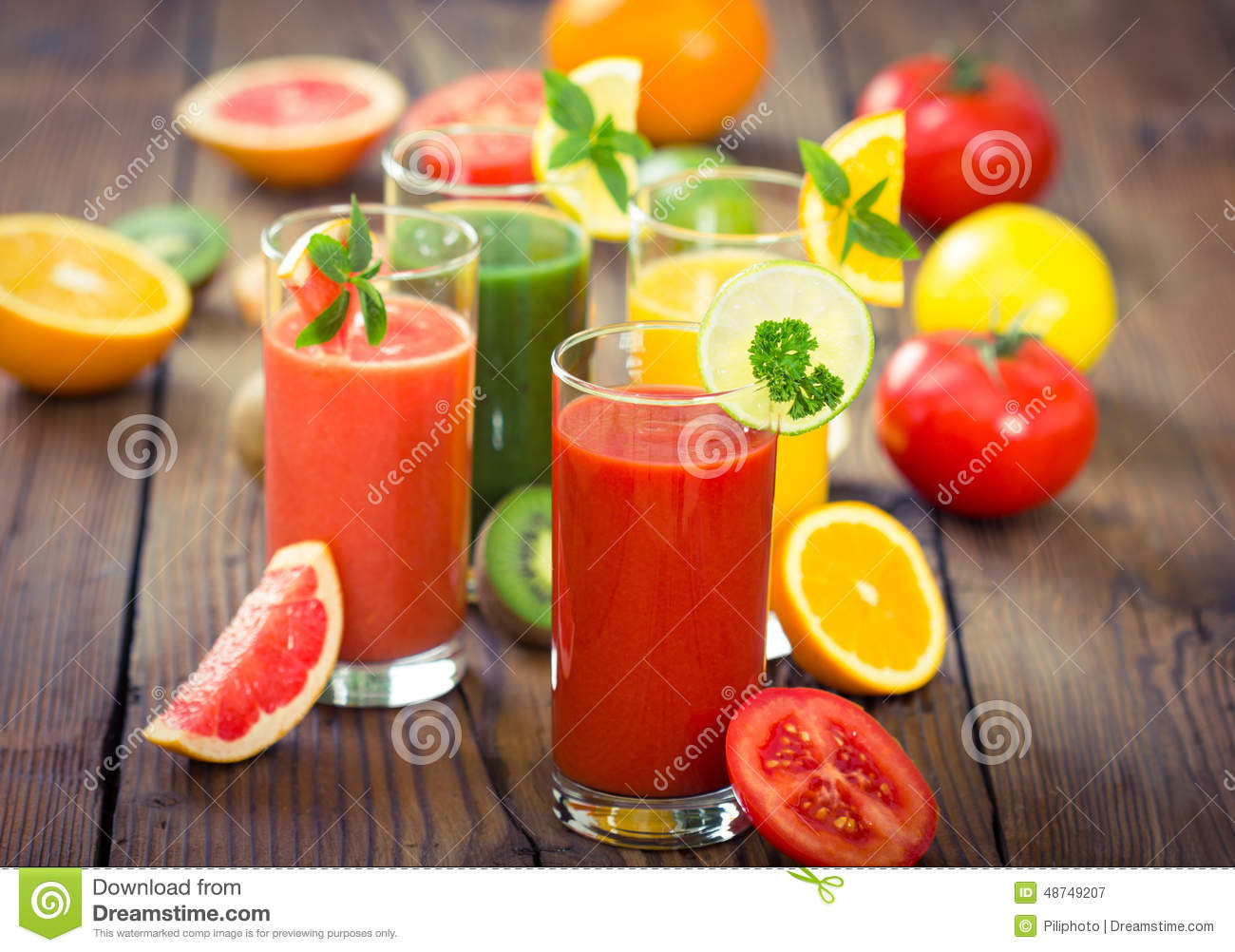 Veg And Fruit Smoothies  Healthy Fruits And Ve ables Smoothies Stock Image