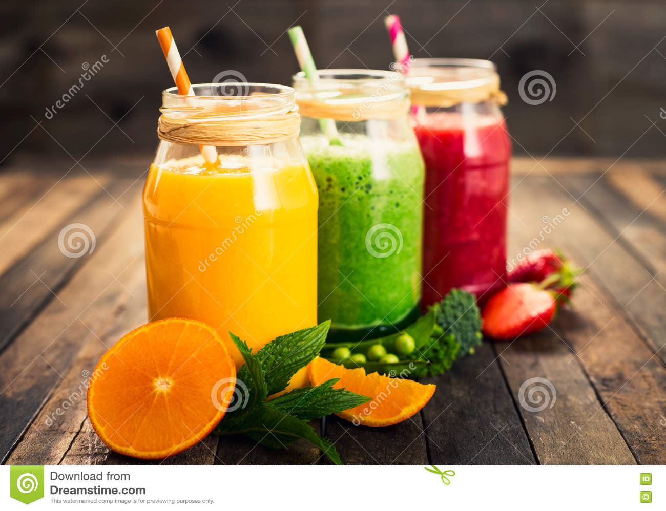 Veg And Fruit Smoothies  Healthy Fruit And Ve able Smoothies Stock Image Image