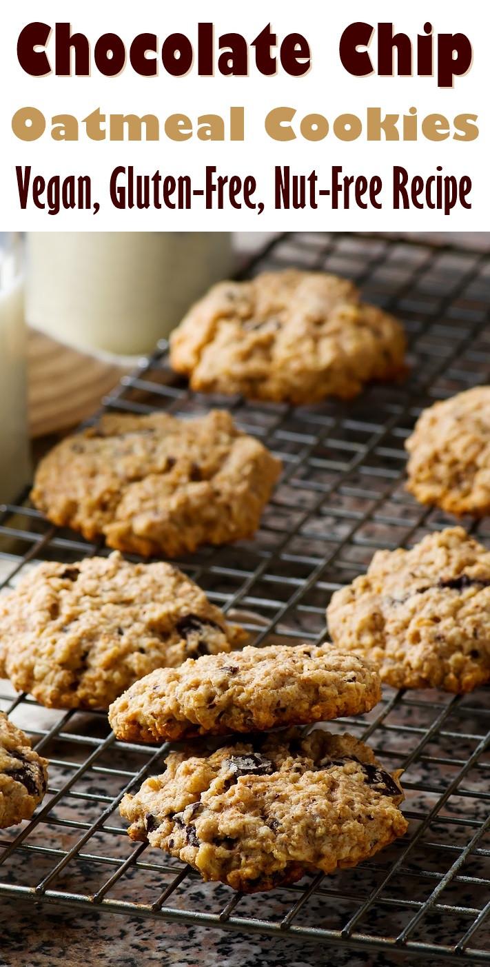 Vegan And Gluten Free Recipes  Oatmeal Chocolate Chip Cookies Recipe Vegan & Gluten Free
