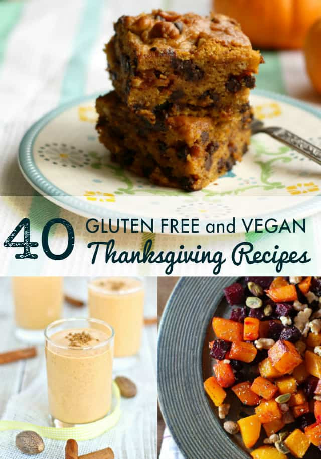 Vegan And Gluten Free Recipes  40 Vegan and Gluten Free Thanksgiving Recipes The