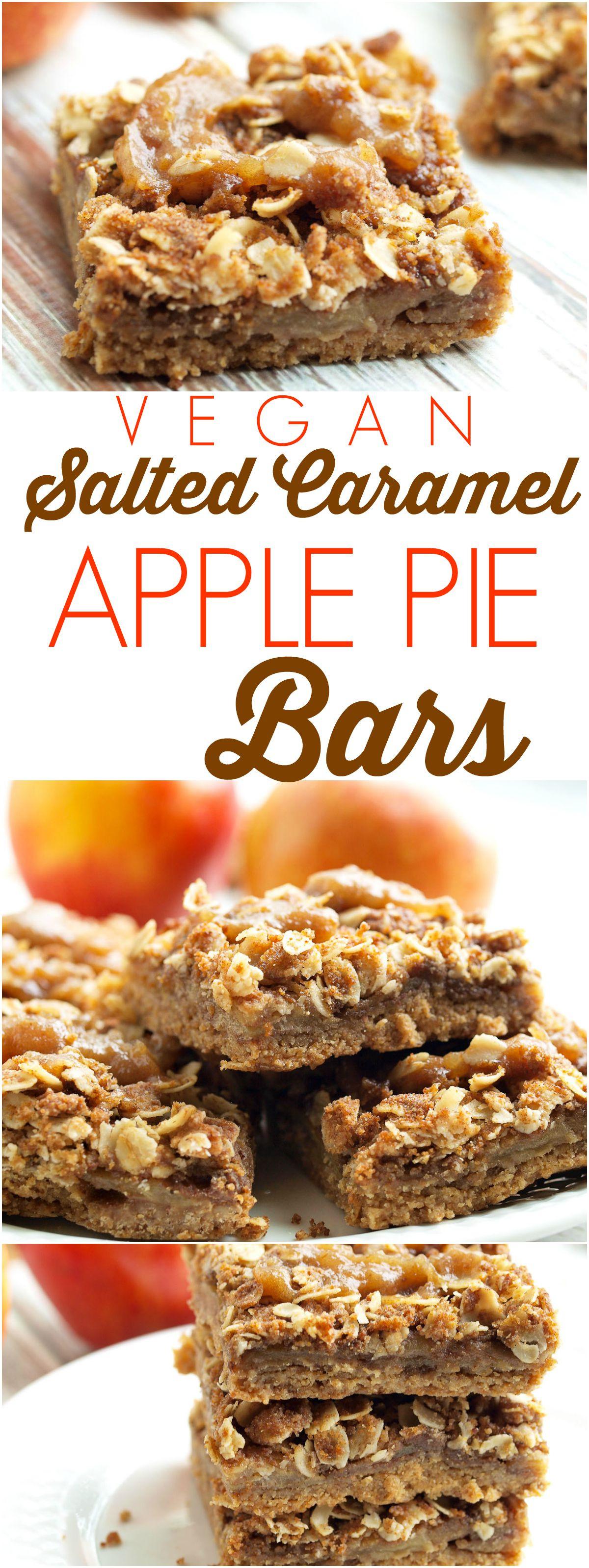 Vegan Baking Recipes  Vegan Salted Caramel Apple Pie Bars Happy Healthy Mama