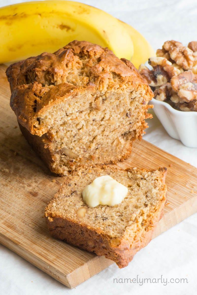 Vegan Banana Bread Recipe  Vegan Banana Nut Bread Recipe Namely Marly