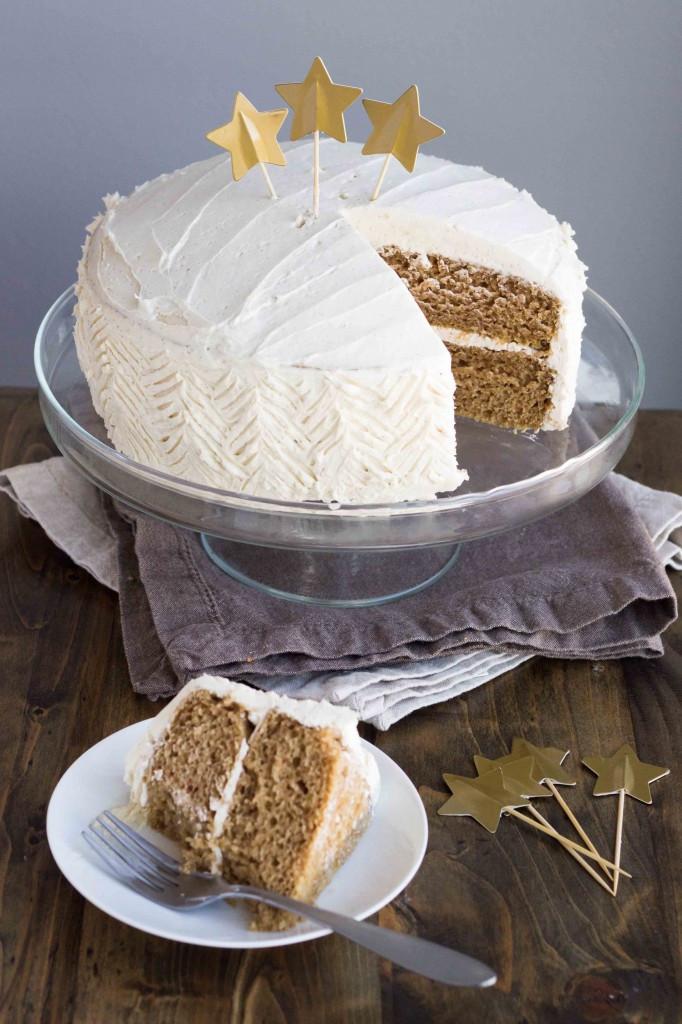 Vegan Birthday Cake  Vegan Chai Spice Cake with Vanilla Bean Buttercream