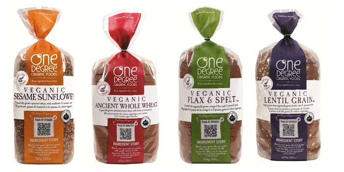 Vegan Bread Brands  Product Review e Degree Organic Foods Veganic Bread