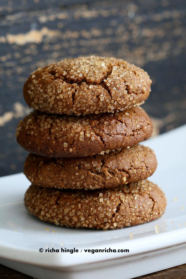 Vegan Gingerbread Cookies  vegan ginger molasses cookies