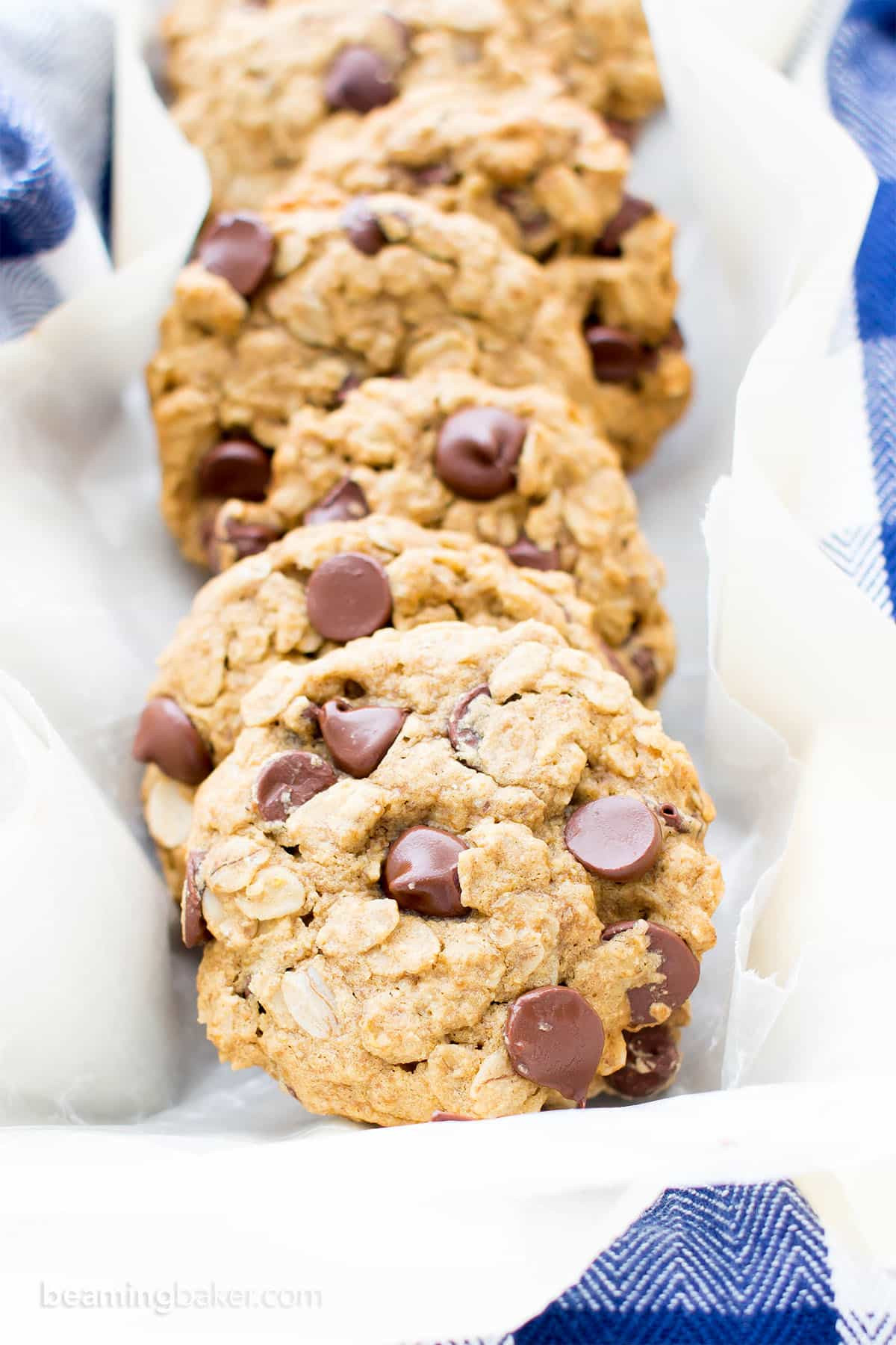 Vegan Oatmeal Chocolate Chip Cookies  Gluten Free Vegan Oatmeal Chocolate Chip Cookies V GF