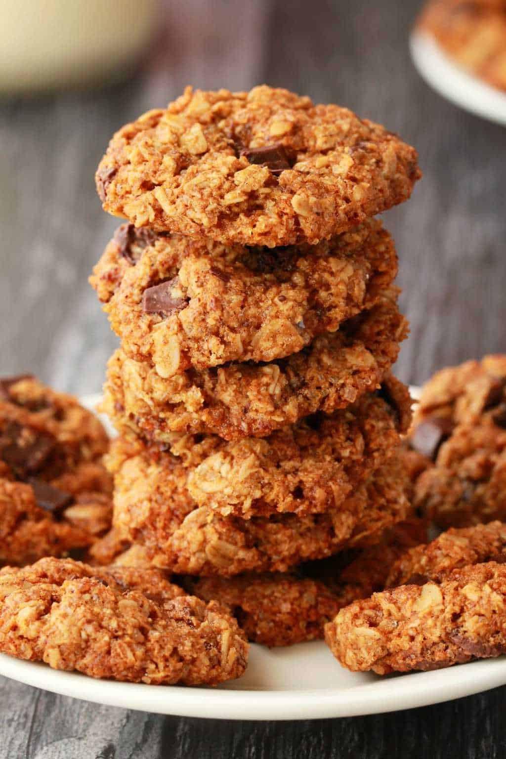 Vegan Oatmeal Chocolate Chip Cookies  Vegan Oatmeal Chocolate Chip Cookies Loving It Vegan