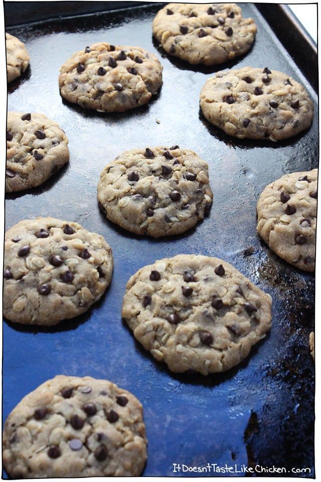 Vegan Oatmeal Chocolate Chip Cookies  vegan oatmeal chocolate chip cookies recipe