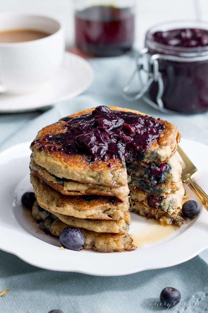 Vegan Oatmeal Pancakes  Blueberry Oatmeal Pancakes Vegan Gluten Free 40 Aprons