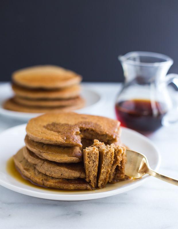 Vegan Oatmeal Pancakes  Vegan Oatmeal Blender Pancakes Making Thyme for Health