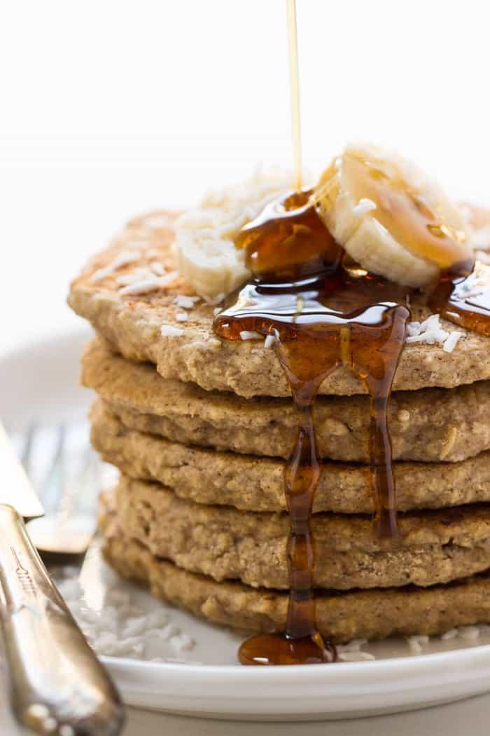 Vegan Oatmeal Pancakes  Vegan Cinnamon Oatmeal Quinoa Pancakes Simply Quinoa