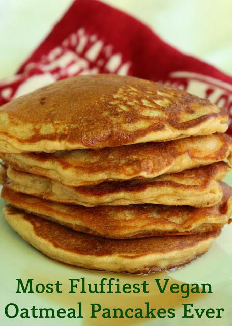 Vegan Oatmeal Pancakes  Preety s Kitchen Most Fluffiest Vegan Oatmeal Pancakes