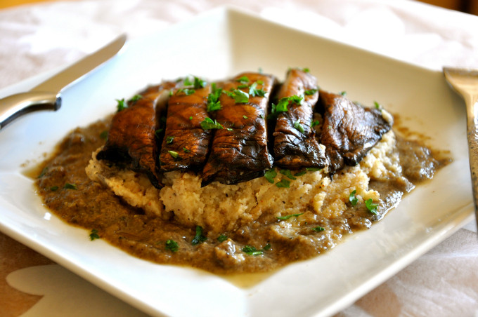 Vegan Portobello Mushroom Recipes  Grilled Portabello Mushroom over Mashed Cauliflower
