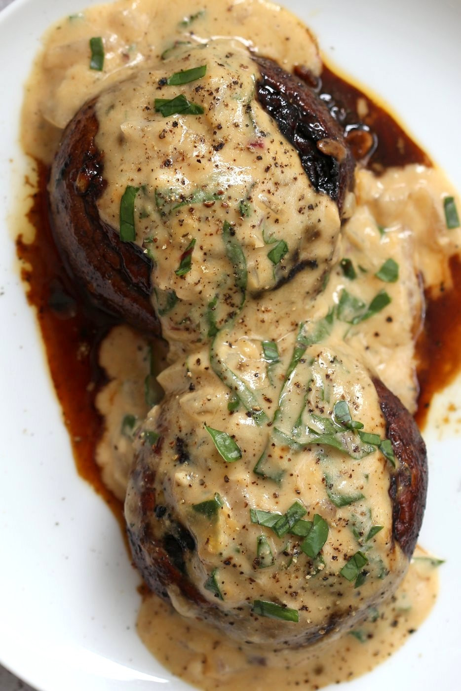 Vegan Portobello Mushroom Recipes  Grilled Portobello Mushrooms with Garlic Sauce Vegan Richa