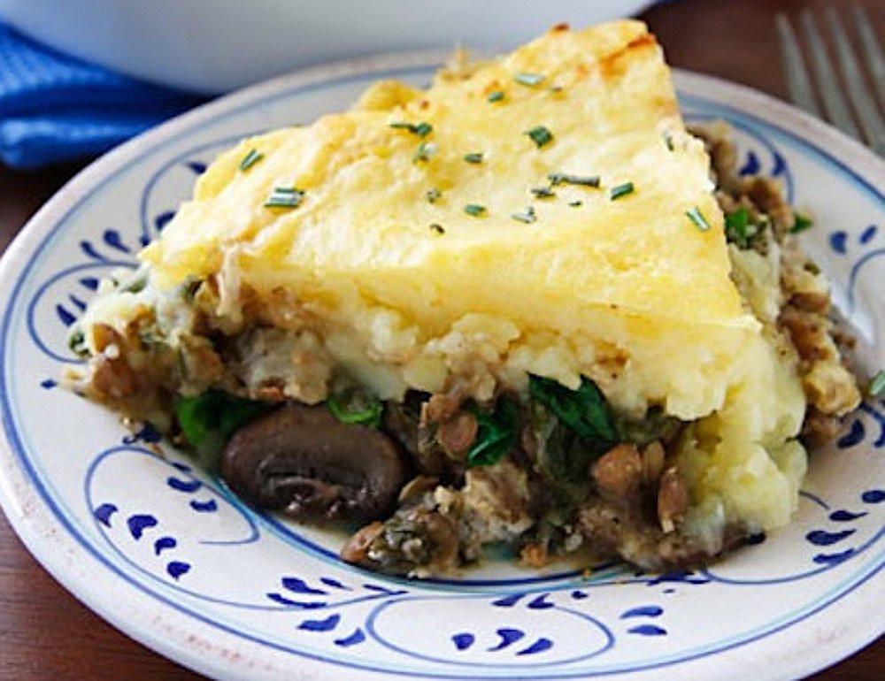 Vegan Shepherd'S Pie  Lentil and Mushroom Shepherd s Pie [Vegan] e Green